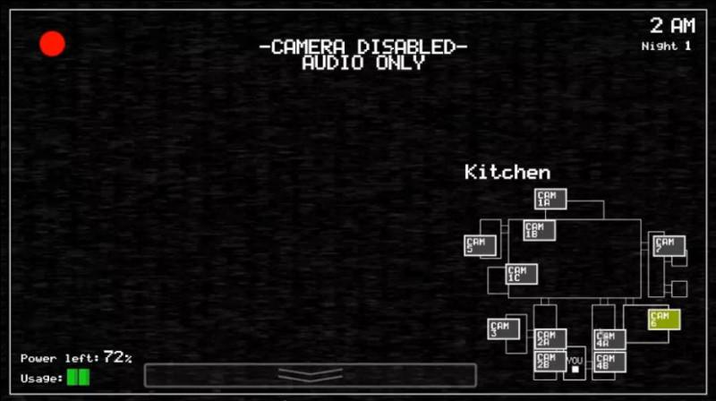 Que fait Freddy dans la cuisine dans Fnaf 1 ?