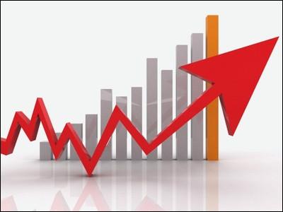 Le taux de croissance atteint 8,3 % en 1960, il est de 6 % en 1964 et 1965, et encore de 7,1 et 6,2 en 1969 et 1970 : ...