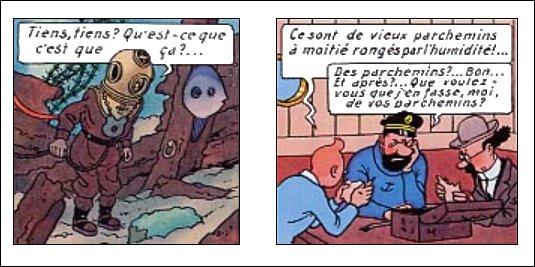 Haddock et Tintin sont déçus par leur découverte : et vous, qu'avez-vous découvert de plutôt suspect ?