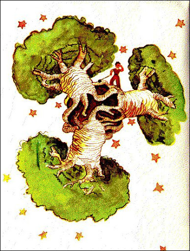 Quelles sortes d'arbres poussent sur l'astéroïde où habite ce fameux personnage ?