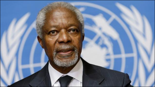 Ce diplomate ghanéen, secrétaire général des Nations unies de 1997 à 2006, a reçu le prix Nobel de la paix en décembre 2001. Il se prénomme ...