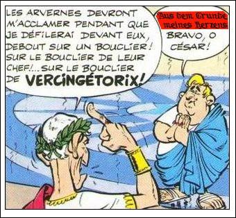 César a une idée particulièrement géniale, à laquelle ce courtisan réplique... en germain ! Que veut-il dire ?