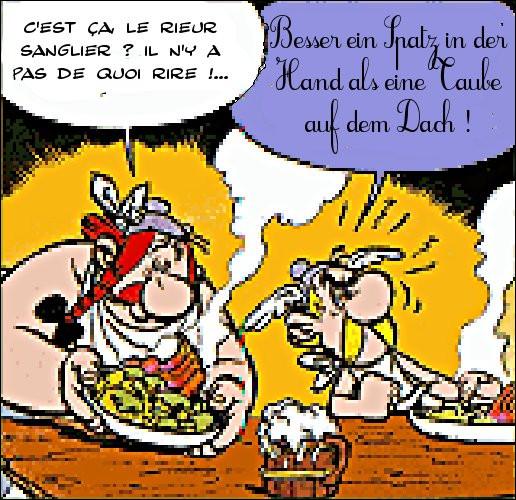 Dans quelque langue que ce soit, Astérix trouve toujours le bon mot !