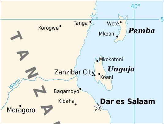 Dans quelle mer ou océan se trouve Zanzibar ?