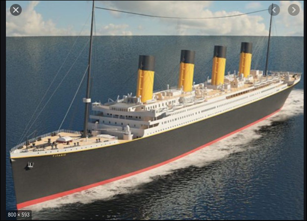 Le Titanic a coulé dans l'océan Pacifique.