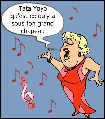 """Depuis toujours, il m'a surnommée """"Tata"""". C'est l'occasion de rendre hommage à une dame au dynamisme légendaire, qui chantait """"Tata Yoyo"""" :"""