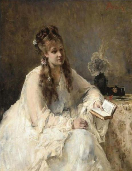 """Qui a peint """"Jeune femme en blanc"""" ?"""