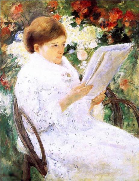 """Qui a réalisé """"Femme lisant dans le jardin"""" ?"""