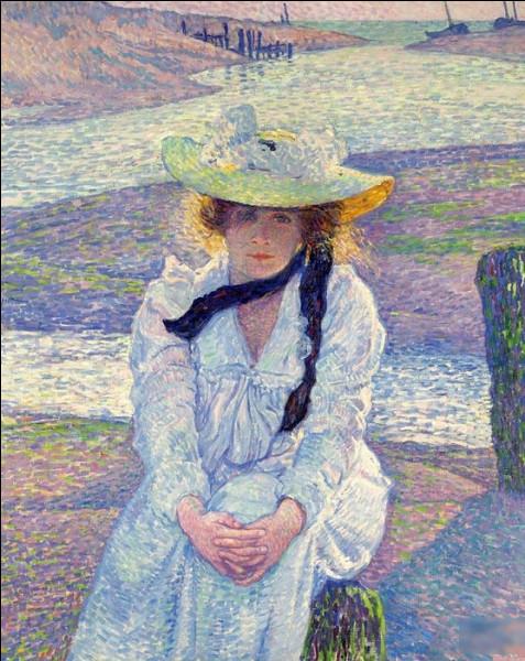 """""""Jeune femme au chapeau sur la plage"""" est un tableau de quel peintre ?"""