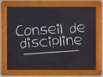 Quand un élève est convoqué dans un conseil de discipline, que cela signifie-t-il ?