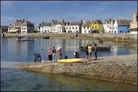 Commune du département du Finistère (29) peuplée de 250 habitants.La commune fait partie du parc naturel marin d'Iroise - Les Causeurs, 2 menhirs face à face comme s'ils se parlaient l'un l'autre - Le phare du Guéveur.