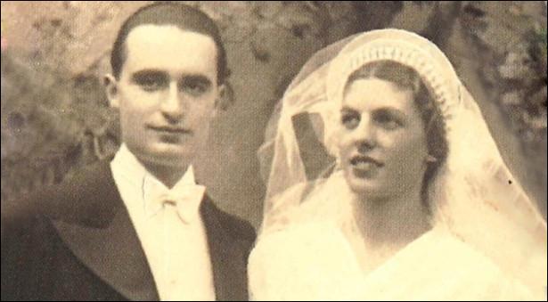 Quel est l'homme sur cette photo de mariage prise le 29 octobre 1935 ?