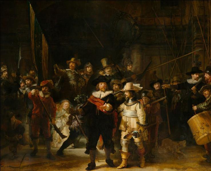 """Complétez le titre de ce tableau peint par Rembrandt Van Rijn en 1642 : """"La ... de nuit""""."""