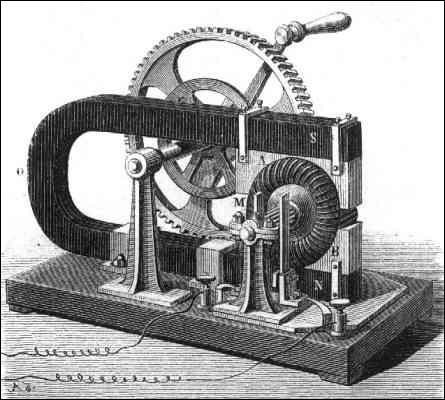 Le premier moteur électrique a été construit en 1822 par...