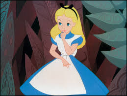 """Dans """"Alice au pays des merveilles"""", quel côté du champignon Alice doit-elle manger pour rétrécir ?"""