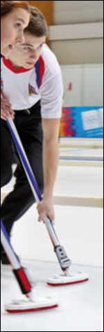 Lorsque l'on pratique le curling, hormis le balai, quel objet utilise-t-on ?