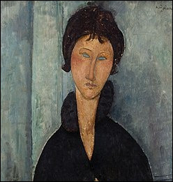 Quel peintre (1884-1904), d'origine italienne a réalisé de nombreux portraits d'aspect stylisé sculptural aux formes étirées jusqu'à la déformation.