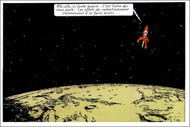 La fusée lunaire de Tryphon Tournesol - outre une certaine ressemblance avec les V2 - a des facultés que n'auront pas celles des programmes Apollo : notamment laquelle ?