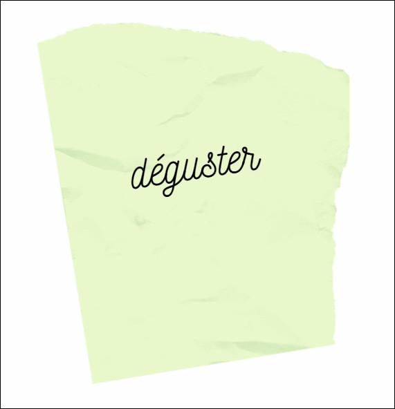 Facile, parmi ces mots, il y a un synonyme du mot déguster :