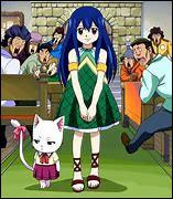 Revenons sur Fairy Tail, comment s'appelle ce chat accompagnant Wendy partout où elle va ?