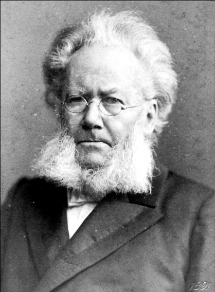 """Ce dramaturge norvégien, auteur de """"Une maison de poupée"""", """"Peer Gynt"""", c'est ... Ibsen."""