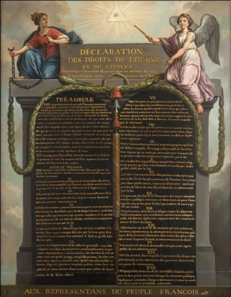 Quelle est la date de la Déclaration des droits de l'homme ?