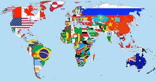 Les drapeaux du monde en A