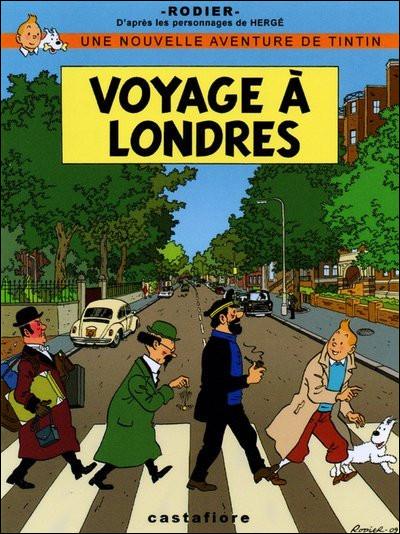 Cette image mettant en scène les principaux personnages de Tintin s'inspire d'une couverture célèbre : laquelle ?