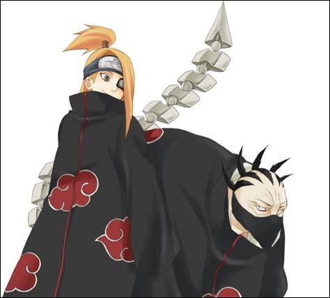Quels personnages de l'Akatsuki partirent à la recherche de Gaara ?