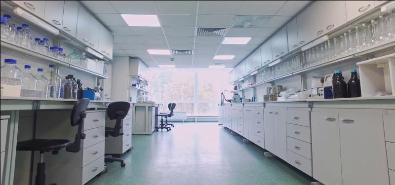 Tout type d'analyse est fait dans cette salle. Ce laboratoire est géré par un...