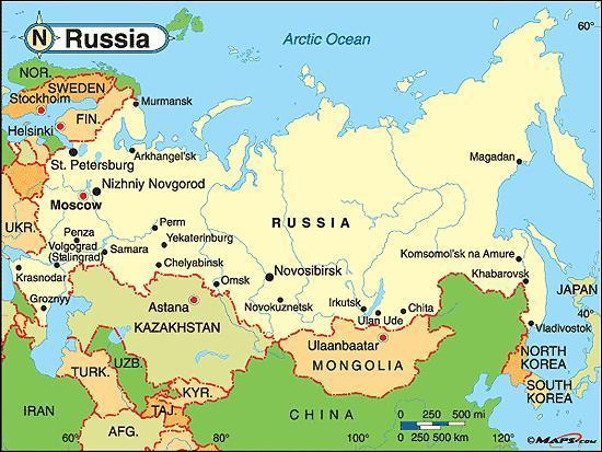 Quel est le climat de la Russie ?