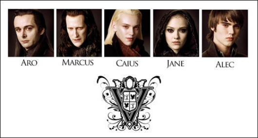 Qui les Volturi ont-ils pour jumeau/Jumelle ?