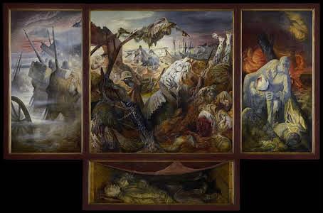 """Le peintre expressionniste allemand auteur de ce tableau """"la guerre"""", réalisé entre 1929 et 1932, se prénomme ..."""