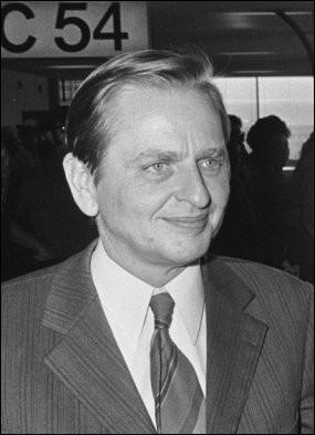 Cet homme politique suédois, dirigeant du Parti social-démocrate, premier ministre de son pays à deux reprises de 1969 à 1976 et de 1982 à 1986, c'est ... Palme.
