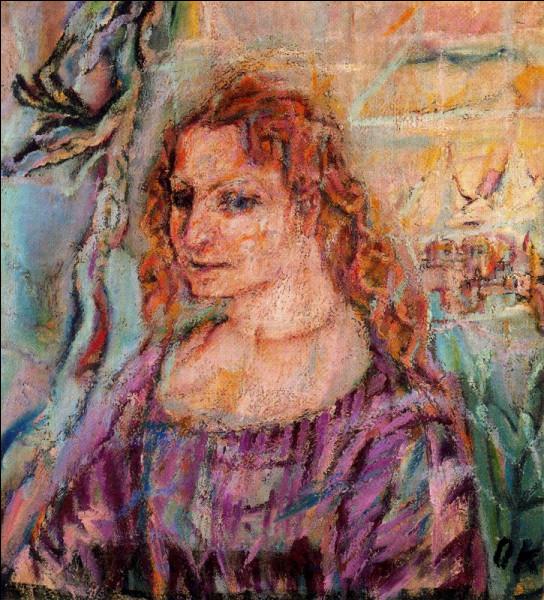 Le peintre expressionniste autrichien, auteur de ce portrait d'Alma Mahler, c'est ... Kokoschka.