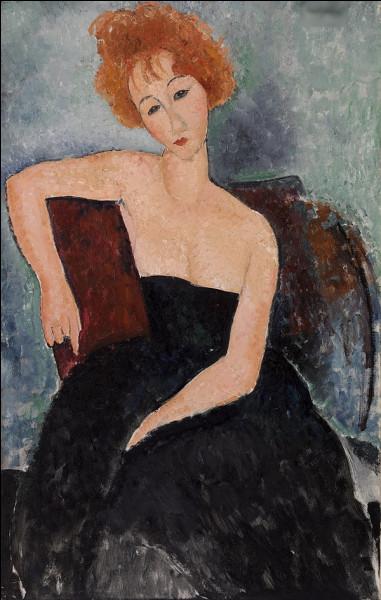 """Quel peintre est l'auteur du tableau """"Femme rousse en robe de soirée"""" ?"""