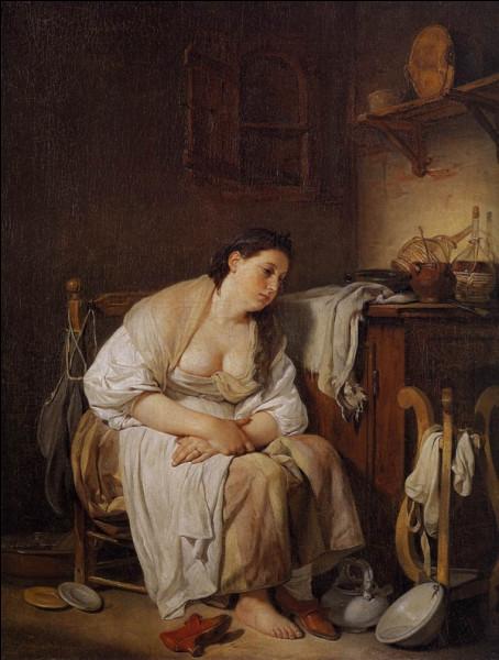 """Quel peintre français du XVIIIe a peint la tableau """"Indolence (La Paresseuse)"""" ?"""