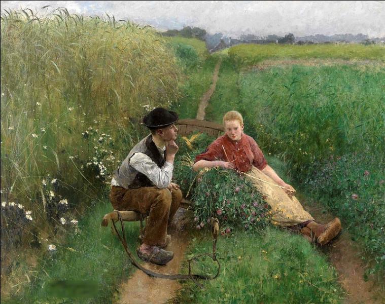 """Quel peintre belge est l'auteur de tableau """"L'amour est dans l'air"""" ?"""