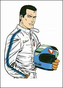 Quel est le prénom du pilote automobile Vaillant qui cours pour l'écurie Vaillante ?