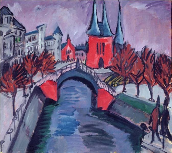 Retrouvez la couleur de la rivière de Kirchner dans le titre de sa toile :