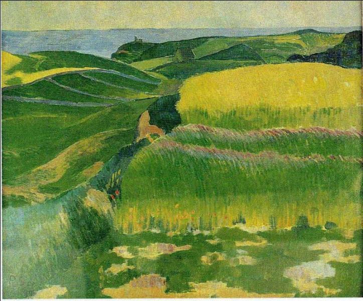 Comment Sérusier peint-il les blés au Pouldu ?