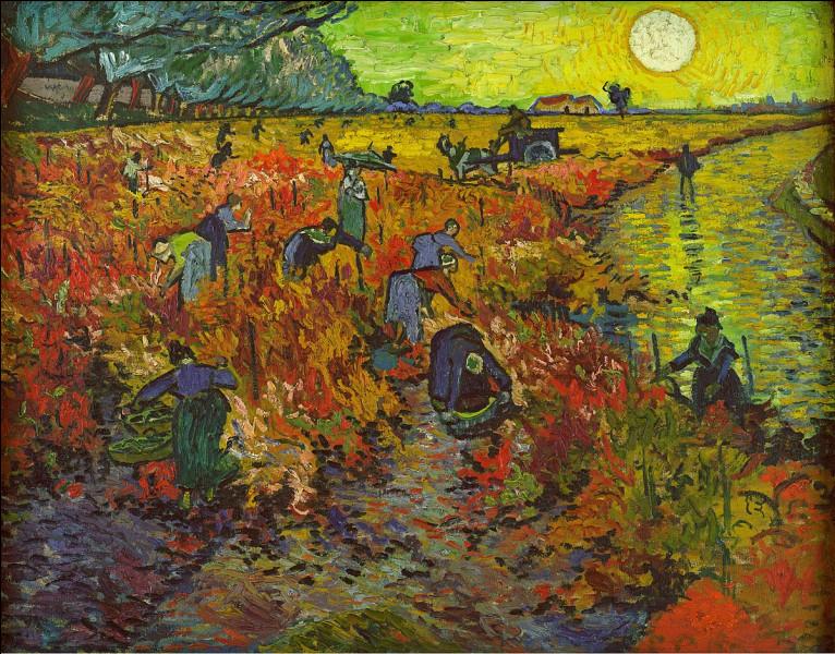 De quelle couleur est la vigne de van Gogh ?