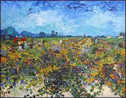 De quelle couleur est le vignoble de van Gogh ?