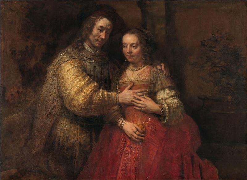 """Quel peintre hollandais du XVIIe est l'auteur du tableau """"La Fiancée juive"""" ?"""