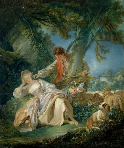 """Quel peintre français du XVIIIe a réalisé le tableau """"Le Sommeil interrompu"""" ?"""