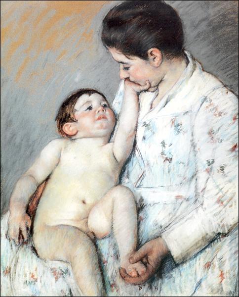 """""""La première caresse du bébé"""" est un tableau de quel peintre ?"""