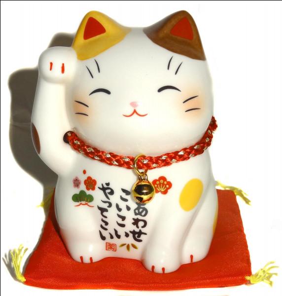 Ce chat appelé Maneki Neko, et censé attirer la fortune, vient sûrement de son pays d'origine, bien qu'on en voit à présent partout devant certaines boutiques !