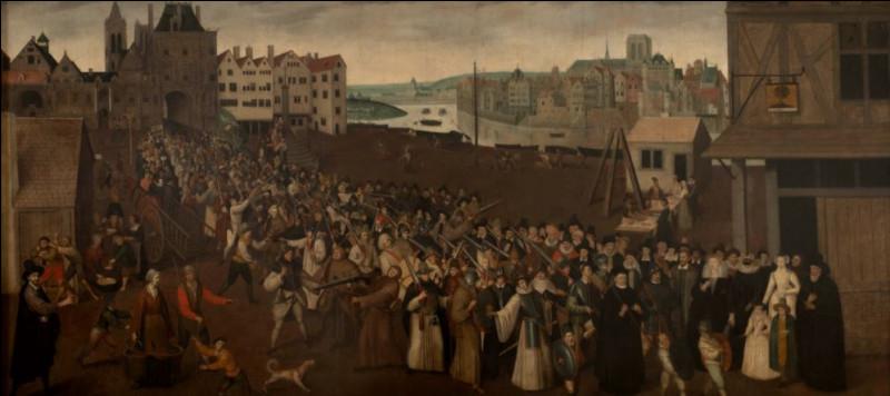 Sur quelle période s'étalent les guerres de religion ?