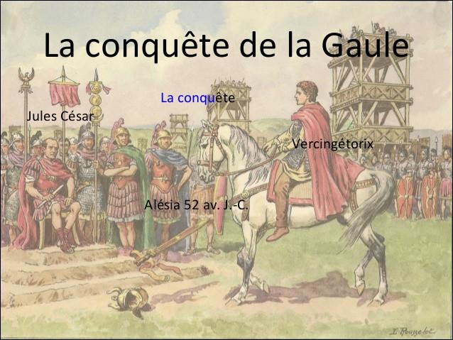 En quelle année Jules César entame-t-il la conquête de la Gaule ?