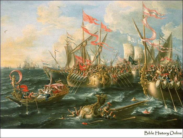 Après la victoire de quelle bataille le royaume de l'Égypte lagide est-il annexé par Octavien en 31 av. J.-C. ?